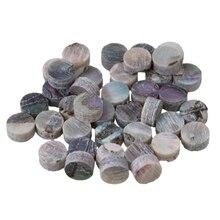 Yibuy100 шт 4 мм красочная Abalone инкрустация грифа точки для мандолина