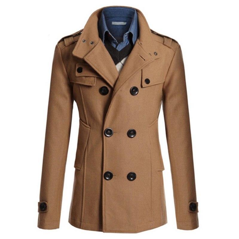 Для Мужчин's Тренчи для женщин куртка Бизнес формальный шерстяные Куртки Повседневное офисные тонкий мужской пальто 2018 зима Для мужчин ветр...