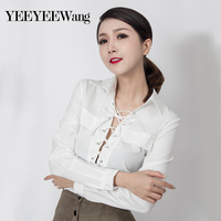 Western F Solid Color Banded Long Sleeved Wild Shirt