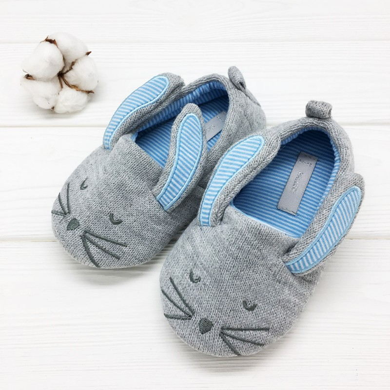 Фото - Children's slippers Halluci Rabbits with a backdrop halluci polar bear fluffy home slippers women shoes indoor cute slides women slippers house sapatos mulher chinelo terlik