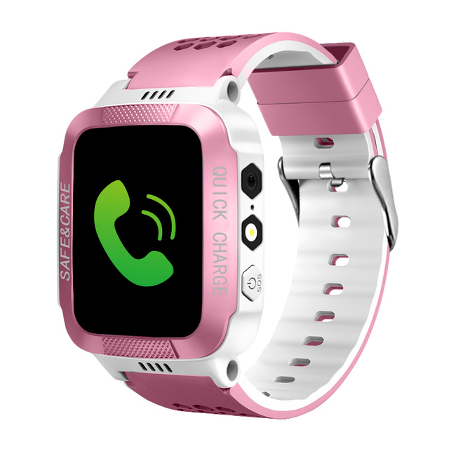 IYURNIXNUHS Touch Screen Smart Watch with Camera Flashligh SOS Call Location Device Tracker for Kid Monitoring YS21S 2