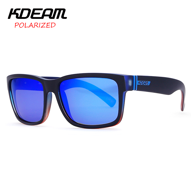 a9d97bad5f2 KDEAM Polarized Sunglasses 2017 New Men Square Sun Glasses Women Party  Mirror lens Sport Elmore 6 Colors UV400 With Case KD505