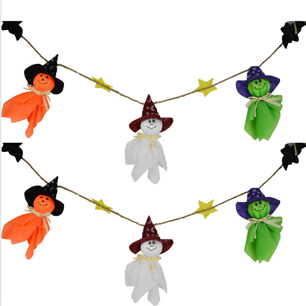 Diy halloween ghost3 - Ghosts Halloween Bunting Decorations Halloween Ghosts Wall Hanging Home Decor China