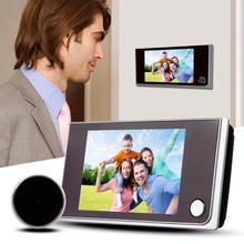 3,5 дюймов ЖК цветной экран цифровой дверной звонок 120 градусов дверной Звонок электронный дверной видео Звонок дверной камеры просмотра