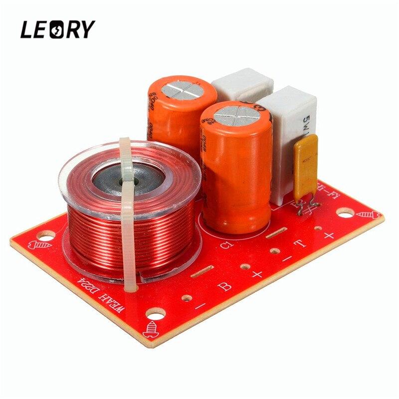 LEORY Weah-D224 Speaker Frequency Divider 2 Way Treble Bass Bookshelf Speaker Sound Stereo Crossover Module