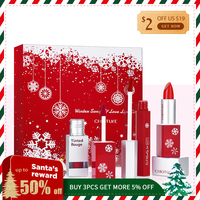CHIOTURE Brand LIPSTICK Moisturizer Long lasting Lips Winter LOVE Christmas Gift balm Beauty for Woman Present 3pcs/box Snow
