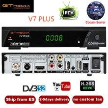 GTMEDIA V7 плюс с бесплатной Cccam резких перемен температуры 1 год Испания Европа DVB-T2 DVB-S2 рецепторов H.265 спутниковый ресивер vs Freesat V7 V8