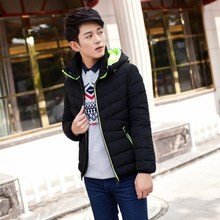 Style Mens Casual Slim Jacket Cotton Thick Coat Hooded Parka Warm Outwear Down