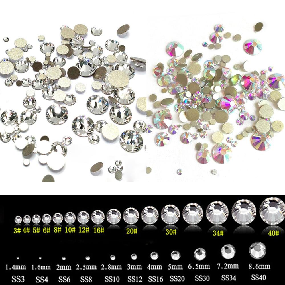 Micro Crystal Diamond Flatback Rhinestones Nail Art Glass ...