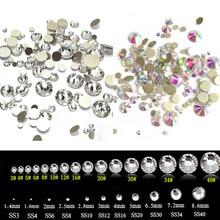 Micro Crystal Diamond Plaksteensteentjes Nail Art Glasdecoraties Kleine accessoires Mix alle maten