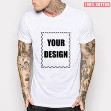 New Design Your Own T-shirts 100% Cotton Printed Brand Logo Pictures Custom Unisex Casual T-shirt Plus Size Customize Clothing