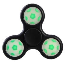 1 pc Color Random Luminous Football Fidget Spinner Soccer Hand Spinner Glow in Dark For Autism