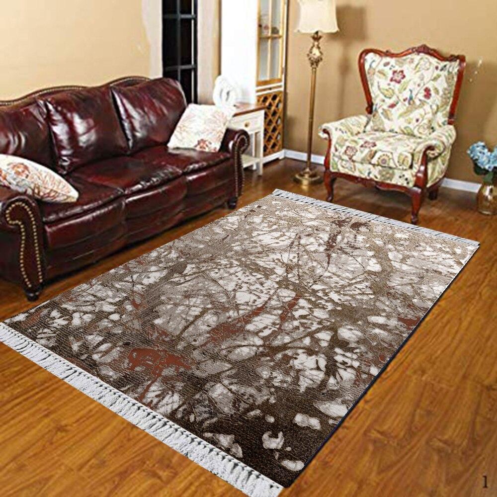 Else Brown White Gray Vintage Authentic Turkish 3d Print Anti Slip Kilim Washable Decorative Kilim Area Rug Bohemian Carpet