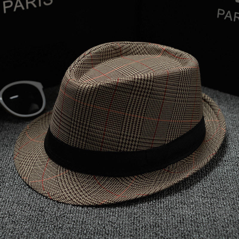 England Retro Top Jazz Plaid Hats 10