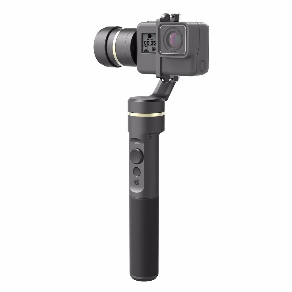 цена на Feiyu Tech Feiyu G5 3-Axis Splash-Proof Handheld Gimbal for GoPro HERO 5 HERO 5 4 3 3+ Xiaomi yi 4k SJ AEE Action Cameras