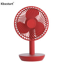 Electric Battery USB Rechargeable Fan Quiet Table Desktop Fan Standing Mini Small Ventilador With 4 Gear Speed Touch Controller fashion smile rechargeable no leaf usb mini fan silence ventilador desktop air conditioner bladeless fan controller ventilador