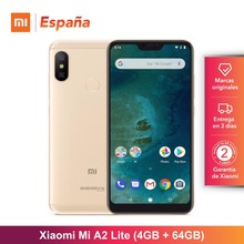 [Глобальная версия для Испании] Xiaomi Mi A2 Lite (Memoria interna de 64 GB, ram de 4 GB, Camara dual de 12 + 5 MP) Movil