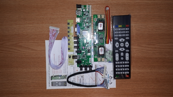 D3663LUA digital TV board DVB-T2/T/C Universal LCD LED TV Controller Driver Board with cable inverter(RU Warehouse out of stock)