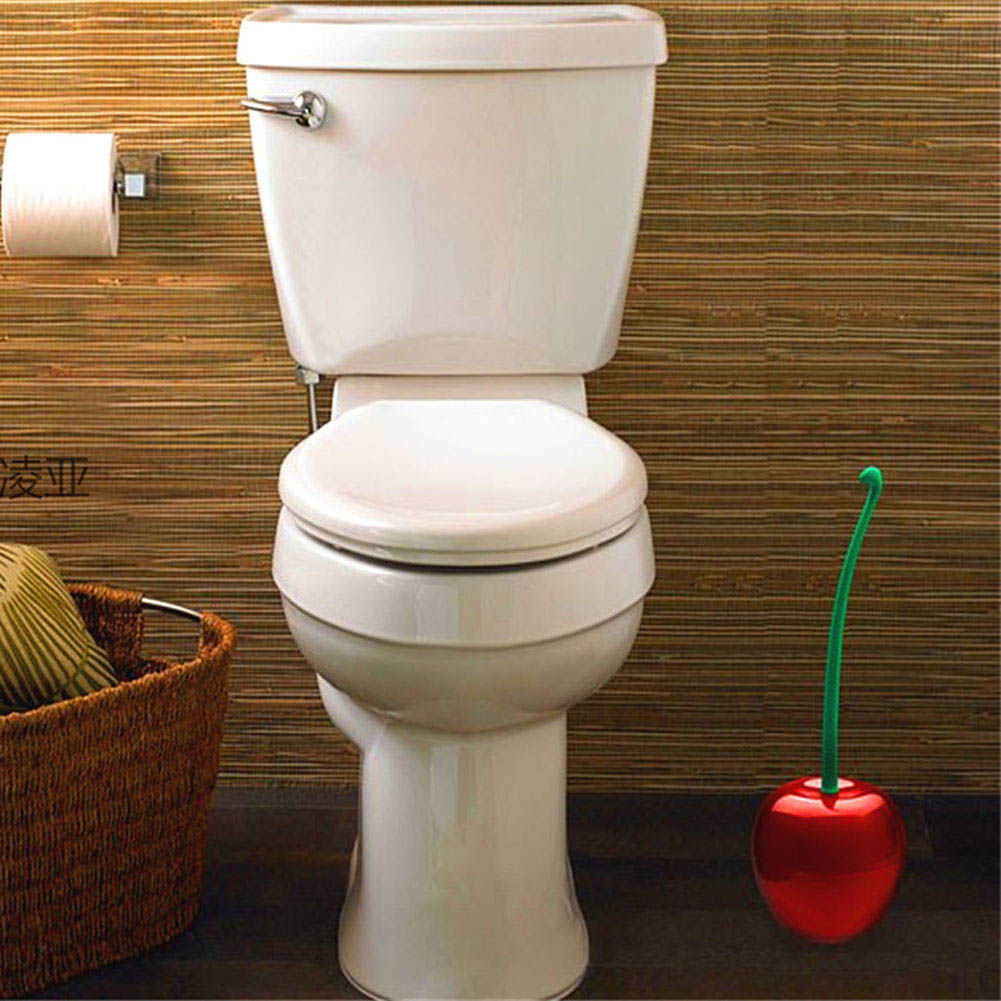 Lovely Cherry Lavatory Brush Cute Cherry Style Toilet Brush Bathroom ...