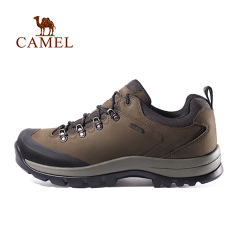 CAMEL New Men Women Outdoor Sports Hiking Shoes Leather Anti-skid Shock Breathable Unisex Camping Trekking Hiking Sneakers