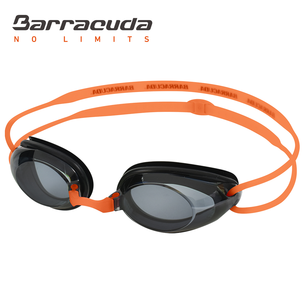 Barracuda Dr.B Goggles Swimming Optical Hidrodynamic Frame Frame Silicone Seals Anti UV Perlindungan UV untuk Dewasa ORANGE # 2195