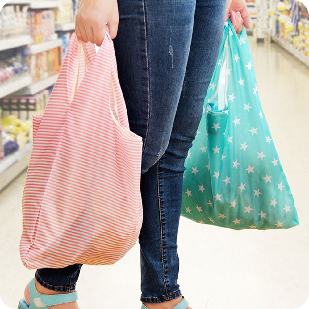 6 Style Women Reusable Shopping Bag Printing Unisex Foldable Cotton Drawstring Grocery Shopping Bags Hot Sale Case Pouch