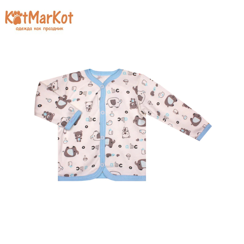 Фото - Blouse Kotmarkot 7601  children clothing for baby boys kid clothes contrast lace keyhole back blouse