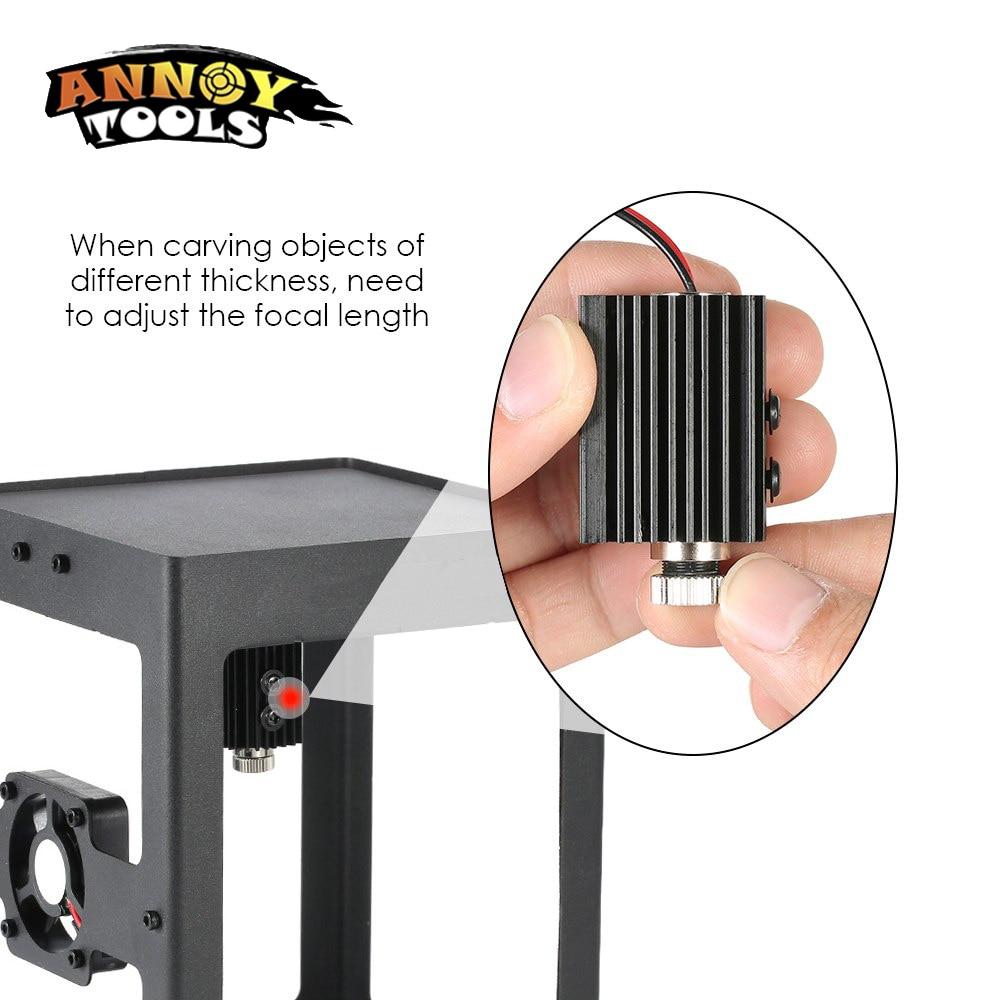 1000mW 1500MW 405nm Accesorio de grabador de módulo láser de cabeza - Piezas para maquinas de carpinteria - foto 6
