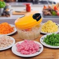 Viande Légumes Bébé Boulette Chopper Main-pull Mini Hachoir Ail Gingembre Piment Pilon De Pommes De Terre Broyeur Hachoir