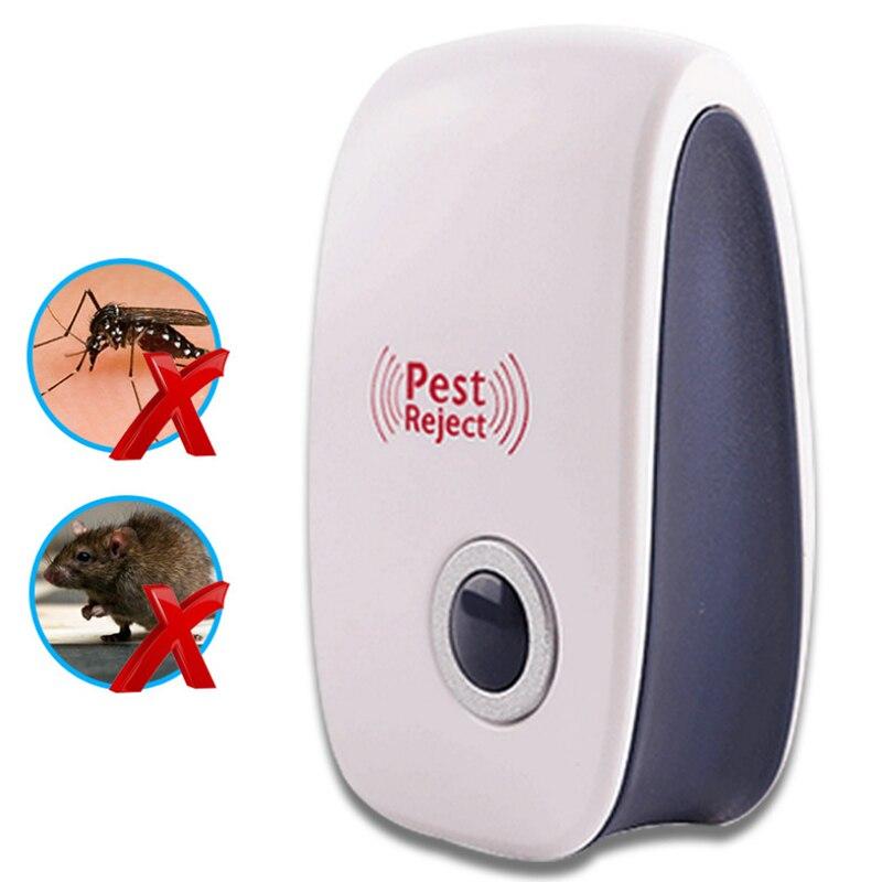 Recordarme ЕС США Plug Электронный Ультразвуковой Пешт Репелленты Anti Mosquito Отпугиватель Управления Электронными Rejector Насекомых Мыши Убийца
