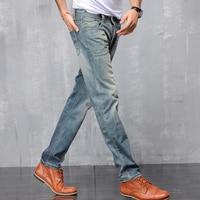 Hombres vintage caliente Pantalones espesar Delgado recto Vaqueros citas viaje Pantalones