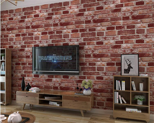 Beibehang Retro To Do The Old Brick Pattern Culture Stone Wallpaper Barber  Shop Clothing Store Hotel