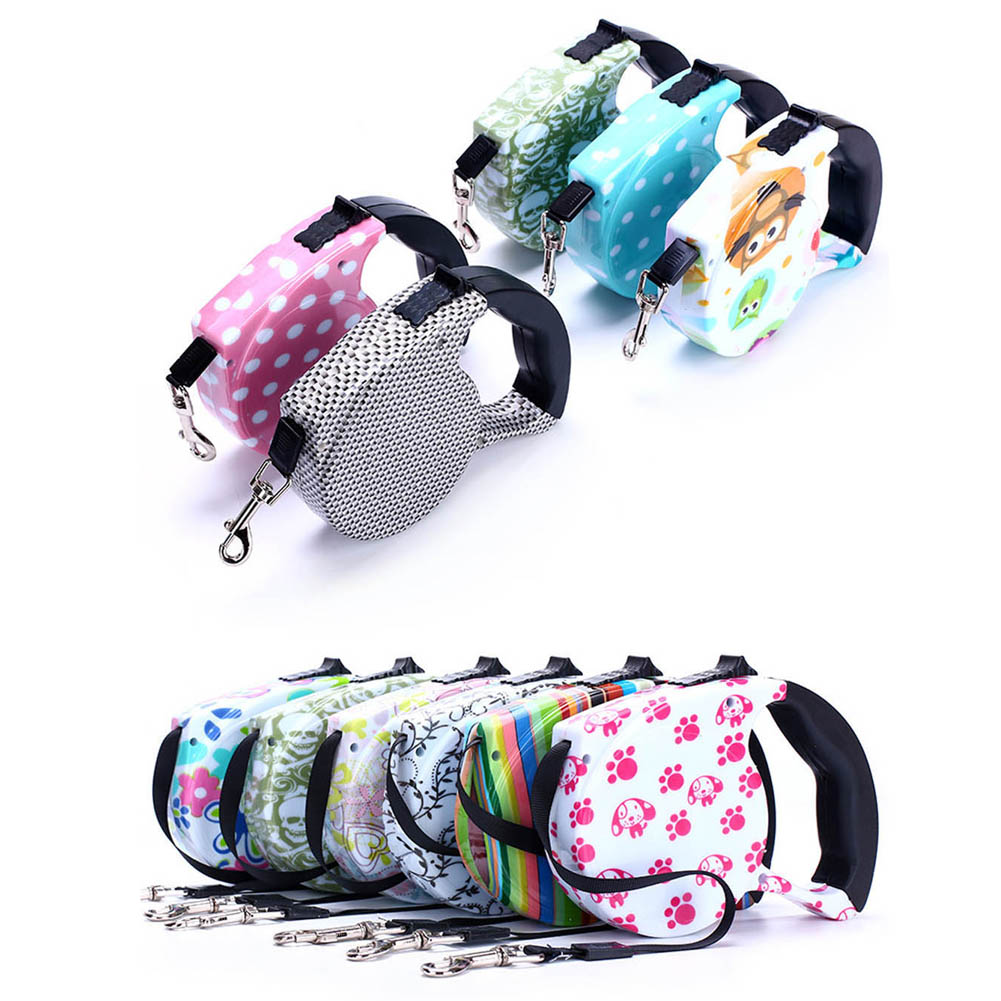 HOT!Hot Sale New Dog Leash Retractable Extending 5M Pet Leashes Dog Collars Walking Dog Leads 0348 Accessories