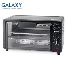 Мини-печь Galaxy GL 2619(Мощность 1000 Вт, объем 9 л, индикатор работы, 2 нагревательных элемента, механическое управление