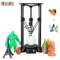 Multi Languages Delta 3d Printers FDM DIY Kit 3D Printing Machine with Optional BMP 1000WM Laser Engraver Smart Leveling