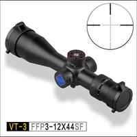 Discovery FFP Tactical Rifle Scope 30mm Tube VT 3 3 12x44SF Adjustments First Focal extended Short and compact