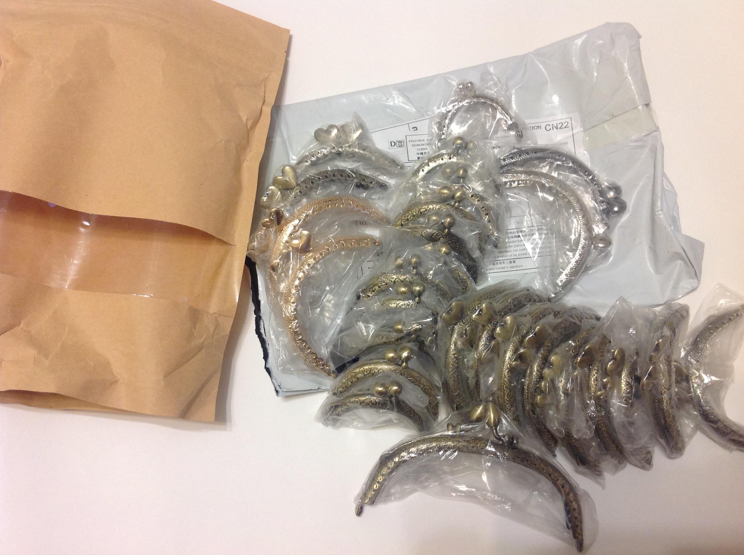 12.5cm Boog Metalen Portemonnee Frame Handvat voor Clutch Handtas Accessoires Maken Kus Sluiting Antiek Brons Toon Tassen Hardware photo review
