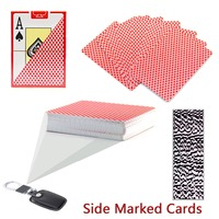 Texas Hold EM Side Marked Playing Cards for Poker Analyzer / Gamble Cheat Device / infrared camera / barcode 4 sides cards