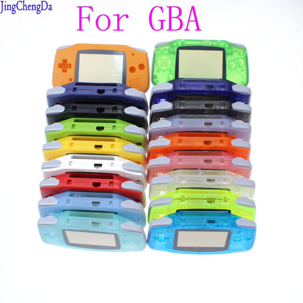 Replacement Luminous Clear Case Shell Cover for Nintendo for GBA Housing Case for Gameboy Advance Console Buttons Screw Driver
