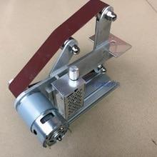 цена на Small mini polishing machine, micro belt machine,  electric knife grinding machine DIY sanding machine