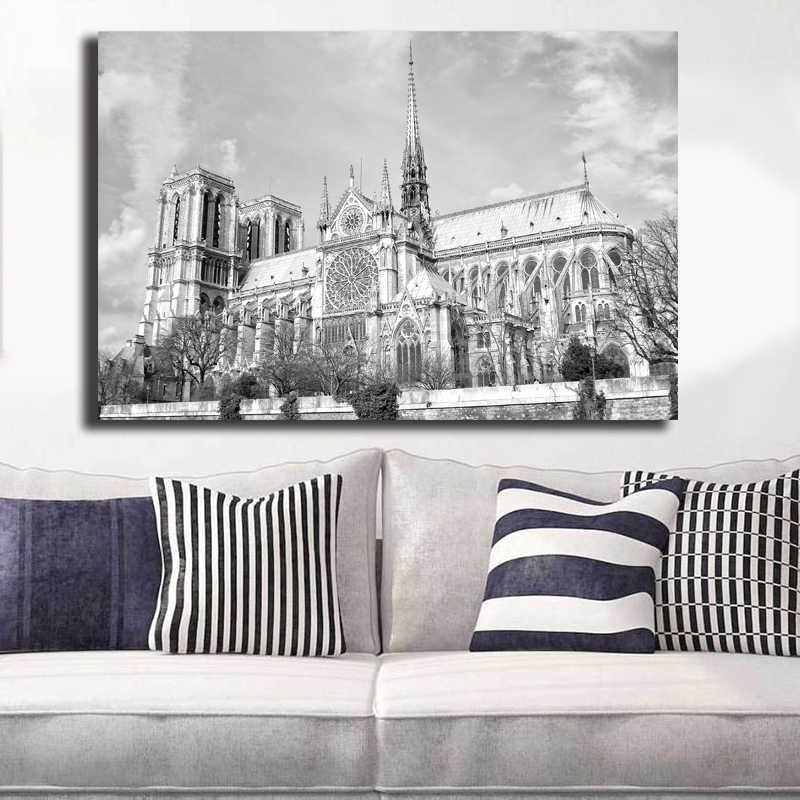 Fonkelnieuw Klassieke Zwart wit Poster Parijs Notre dame Kathedraal LJ-12
