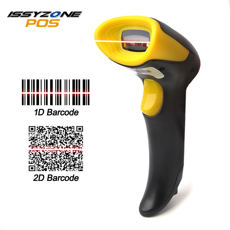 ISSYZONEPOS I2DBC024 Wire 2D Laser barcode scanner High Scanning speed for POS inventory USB reader mobile payment Free Shipping цены онлайн