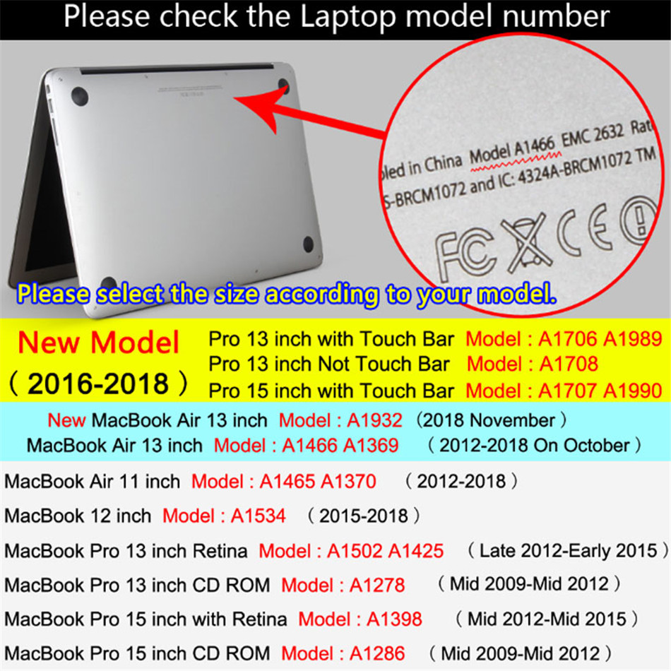 Marble Laptop Case For MacBook Air 13 Mac Book Pro Retina 11 12 13 15 15.4 13.3 Inch Touch Bar Shell  Sleeve+ Laptop Dust Plug (4)