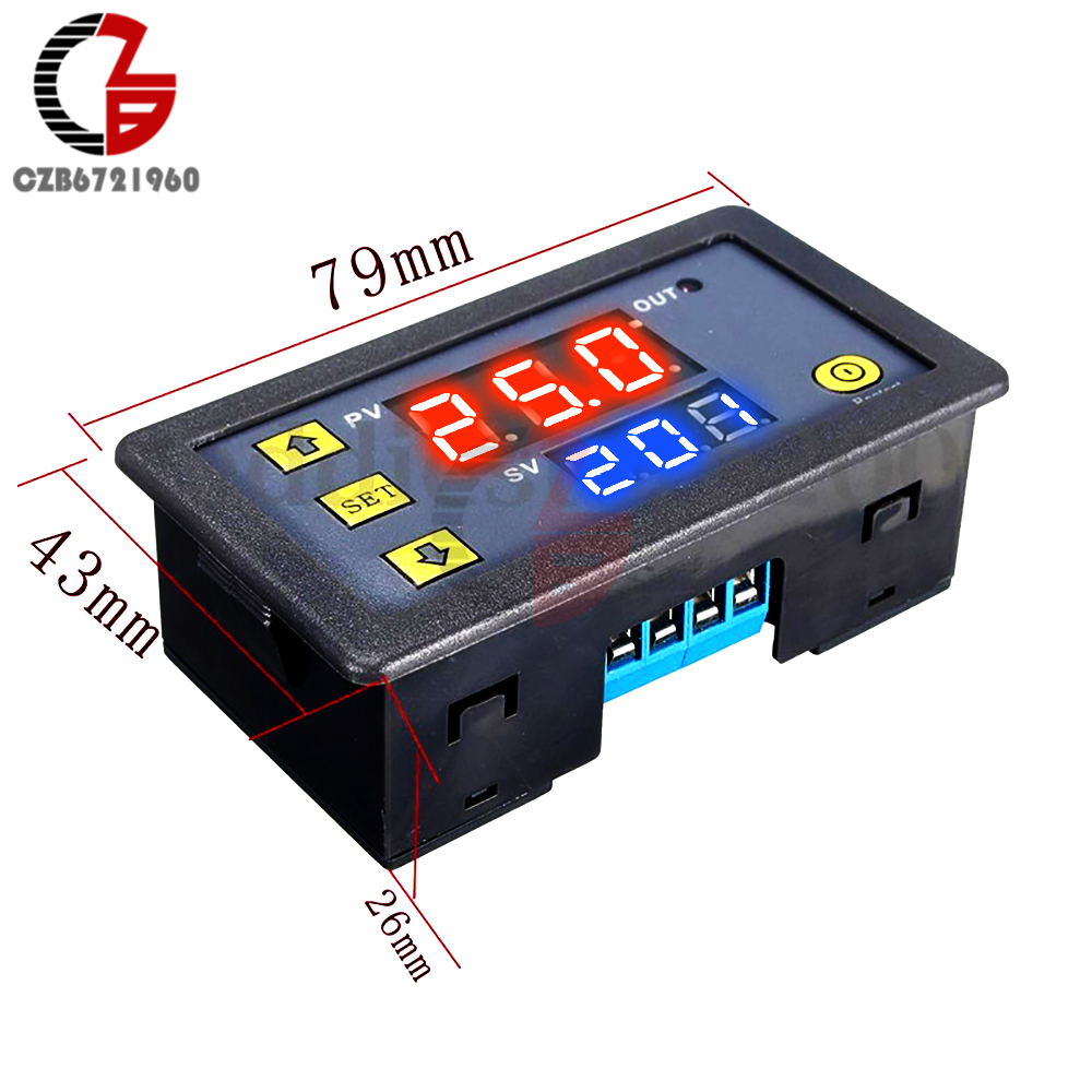 12V Dual LED Display Digital Time Delay Relay Module Timing Delay Cycle Timer Relay Control Switch Time Relay Module dc 5 36v dual road mos tube module dc12v 24v trigger cycle timing delay switch circuit for controlling motor lights led etc