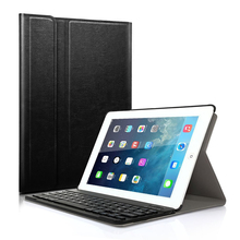 Bluetooth Keyboard Case for iPad 5 2017 Layout Spanish Stand Cover Detachable Wireless Keyboard for Apple iPad5 2017