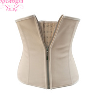 Adjustable Shoulder Strap Waist Trainer Corset Women Zipper Hook Body Shaper Waist Cincher Tummy Control Slimming