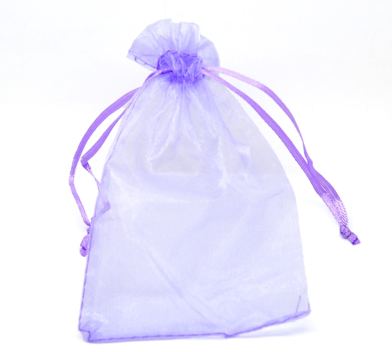 100PCs 10x15cm Purple Organza Wedding Gift Bags & Pouches W/Draw String Cute Makeup Organizer Storage Bags For Travel Sundries