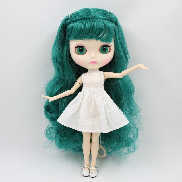 TBL Neo Blythe Doll Green Hair Jointed Body