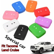 3 Buttons Silicone Cover Fob Case Shell For Toyota Tacoma Land Cruise 2016 2017