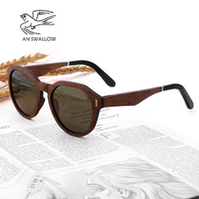 Cool men and women sunglasses polarized ebony laminated wood
